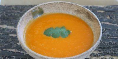 soupe de courge butternut au lait d'avoine