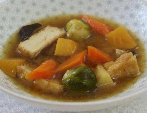 Soupe complète d'hiver au miso